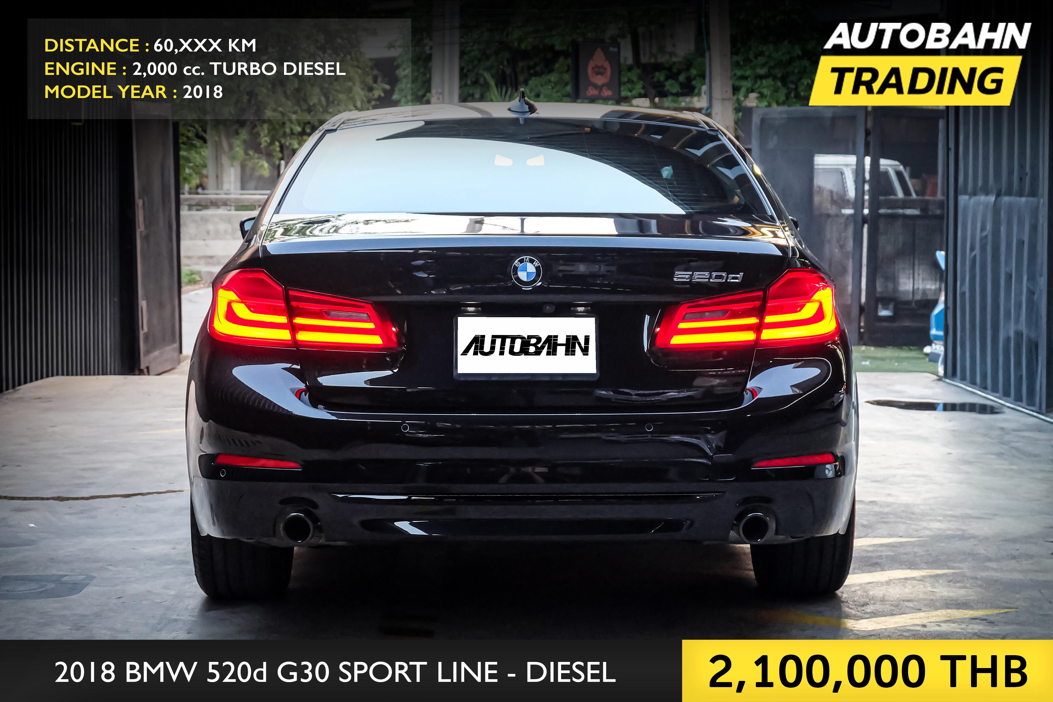 2018 BMW 520d 2.0 G30 (ปี 17-22) Sedan AT full